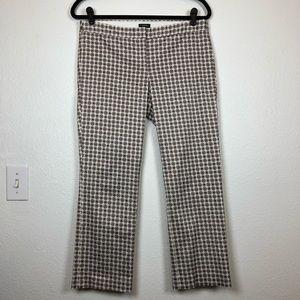 J. Crew Pants - J. Crew cream blue mahali dot capri pants size 6